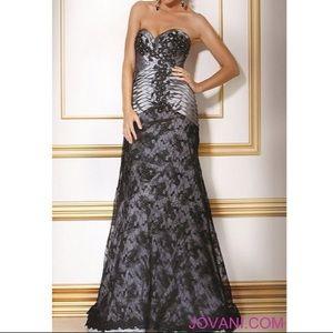 Jovani Evening Dress 17290 Black/Grey